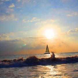 Michael Rucker - Maui Sailboat Sunset