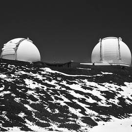 Mauna Kea Observatories in Black and White by Venetia Featherstone-Witty