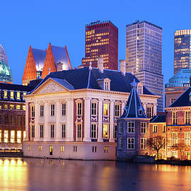 Mauritshuis Museum At Blue Hour by Barry O Carroll