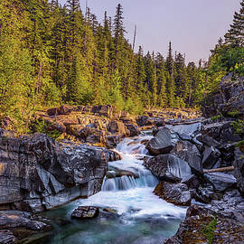 McDonald Creek Falls - Peter Tellone