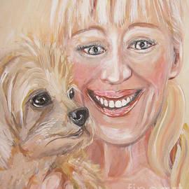 Oksana Semenchenko - Me and Little Miss Molly. Painting