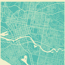 MELBOURNE STREET MAP - Jazzberry Blue