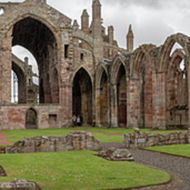 Melrose Abbey Panorama by Teresa Wilson