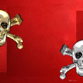 Memento Mori - Gold and Silver Human Skulls