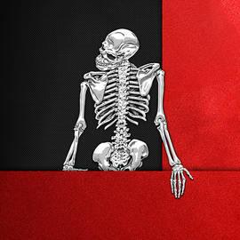 Memento Mori - Skeleton on Red and Black