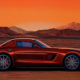 Mercedes Benz SLS AMG GT Final Edition 2014 Painting by Paul Meijering