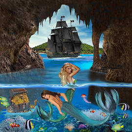 Mermaid's Pirate Cave by Glenn Holbrook