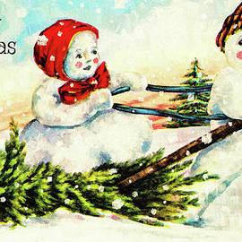 Tina LeCour - Merry Christmas Snow Couple
