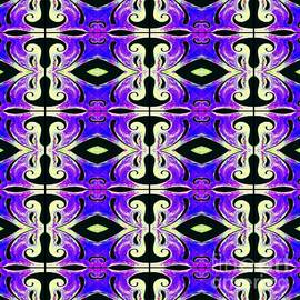 Metamorphosis Of The White Waves Symmetry Tile 219 by Helena Tiainen