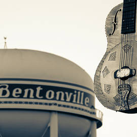 Meteor Guitar Gallery - Historic Downtown Bentonville Arkansas - Sepia by Gregory Ballos