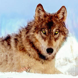 Bob and Nadine Johnston - Mexican Wolf Painting