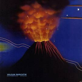 Mexico Volcan Paricutin 1943 - Retro travel Poster - Vintage Poster - Studio Grafiikka