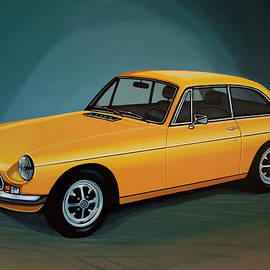 Paul Meijering - MGB GT 1966 Painting