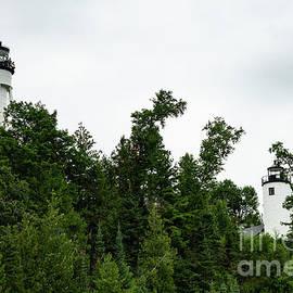 Michigan Island Lightstation Sailing Apostle Islands National Lakeshore Bayfield Wisconsin III by Wayne Moran