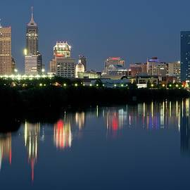 Frozen in Time Fine Art Photography - Midnight Blue Indy Skyline