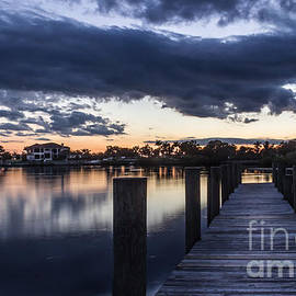 Midnight Blue Sunset by Liesl Walsh