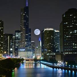 Midnight in the Windy City by Frozen in Time Fine Art Photography