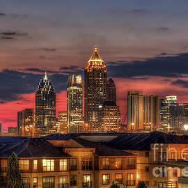 Reid Callaway - Midtown Atlanta Towering Over Atlantic Commons 2 Art