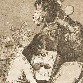 Might not the pupil know more - Francisco Goya