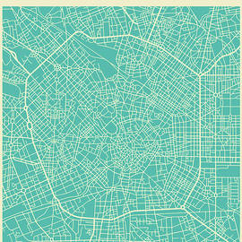 MILAN STREET MAP 2 - Jazzberry Blue