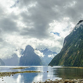 Milford Sound Panorama by James Udall