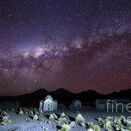James Brunker - Milky Way Above Abandoned Rural Hamlet and Church Bolivia