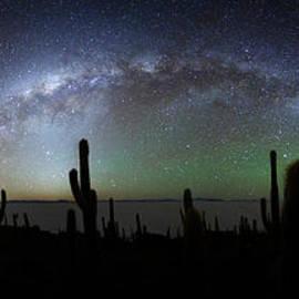 Milky Way Above Incahuasi Island Panoramic by James Brunker