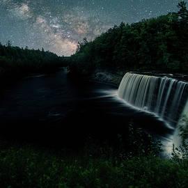 Milky Way at Tahquamenon Falls by Dustin Goodspeed