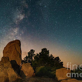 Milky Way Over Grand Canyon Rocks by Alissa Beth Photography