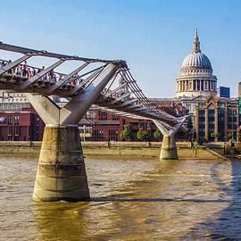 Millennium Bridge, St. Paul's, London by Venetia Featherstone-Witty