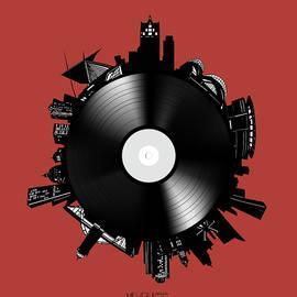 Bekim Art - milwaukee skyline vinyl 10