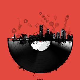 Bekim Art - milwaukee skyline vinyl 4