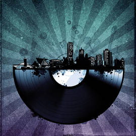 Bekim Art - milwaukee skyline vinyl 6