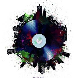 Bekim Art - milwaukee skyline vinyl 7