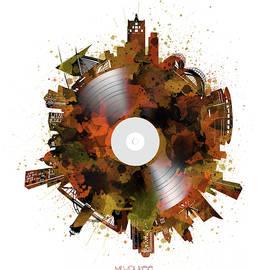Bekim Art - milwaukee skyline vinyl 8