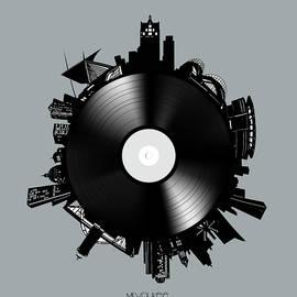 Bekim Art - milwaukee skyline vinyl 9
