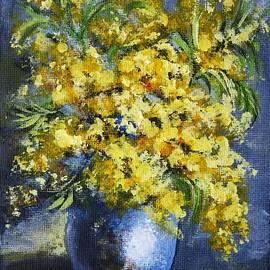 Vesna Martinjak - Mimosa In A Blue Vase