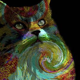 Lesa Fine - Miss Kitty Portrait Pop Art