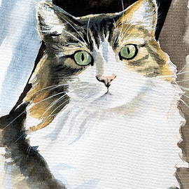 Miss Lucy - Cat Portrait by Dora Hathazi Mendes