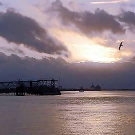 Mississippi River Sundown by Kenneth Keller