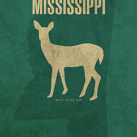Mississippi State Facts Minimalist Movie Poster Art - Design Turnpike