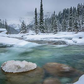Yves Gagnon - Mistaya Canyon Winter Scene