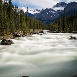 Mistaya River  In Banff National Park by Bryan Mullennix