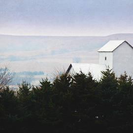 Misty Autumn Kansas Countryside by Anna Louise