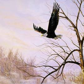 Paul Henderson - Misty Flight-Bald Eagle