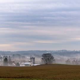 Misty Morning On The Farm by John Radosevich