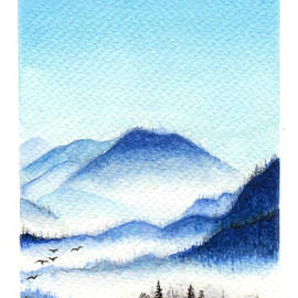 Orion Art - Misty Mountains Landscape