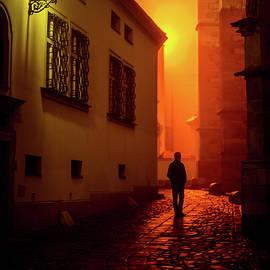 Jenny Rainbow - Misty Night near Cathedral