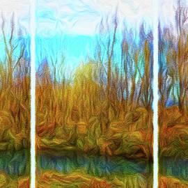 Joel Bruce Wallach - Misty River Vistas - Triptych