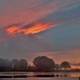 Scott Hufford - Misty Sunset over the Danvers River, Beverly MA